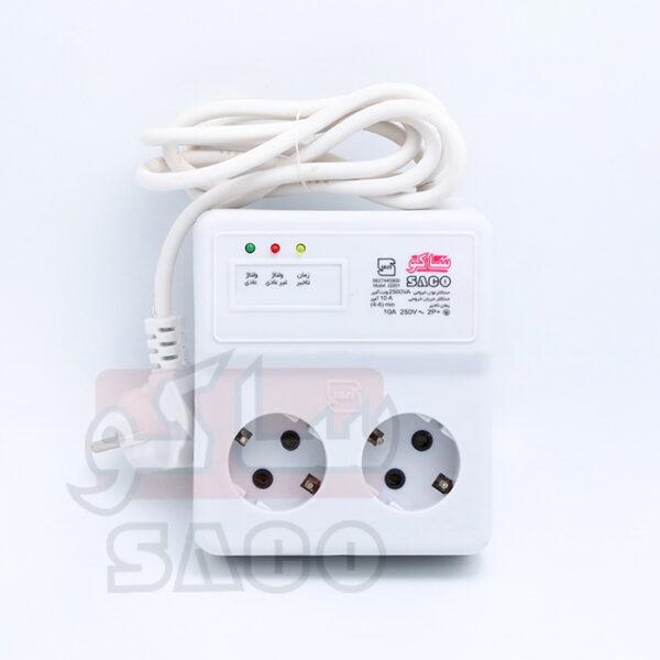 محافظ ولتاژ برق 2 خانه یخچال و فریزر آنالوگ با کابل 5 متری 22205