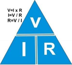 مثلث روابط بین ولتاژ ، جریان و مقاومت