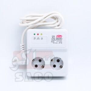 محافظ ولتاژ برق 2 خانه یخچال و فریزر با کابل 3 متری 22203